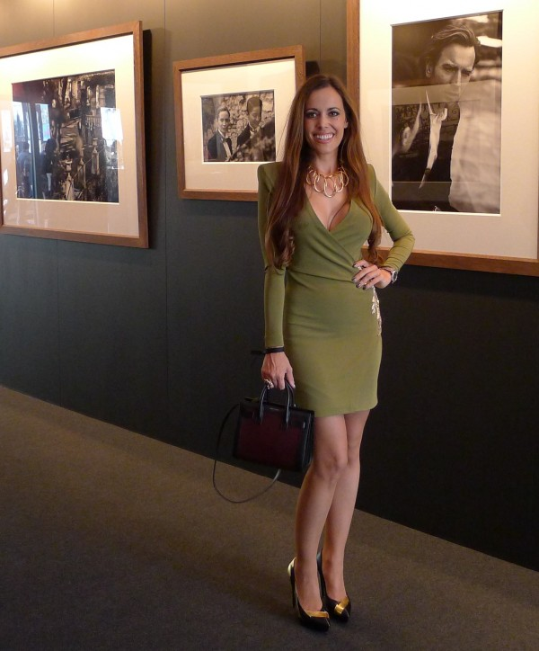 Sandra Bauknecht in Balmain at IWc Exhibition Opening
