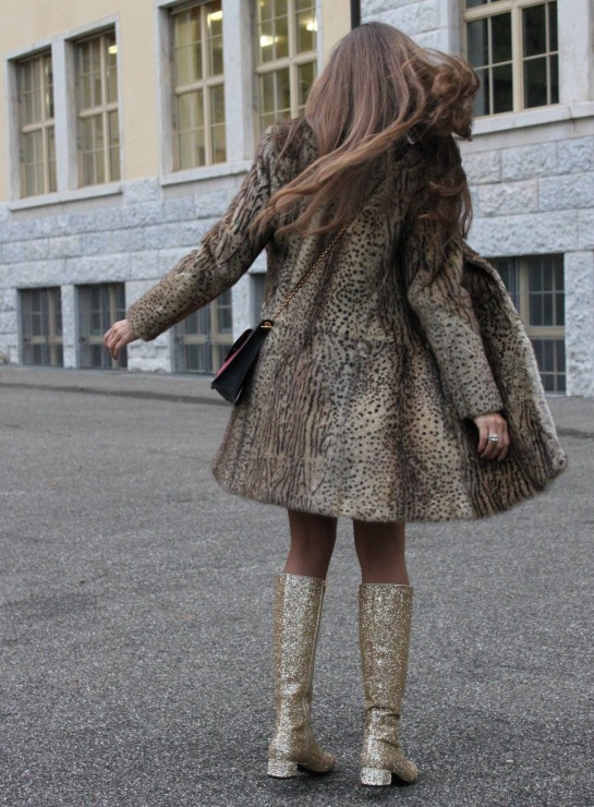 Sandra Bauknecht in Saint Laurent Coat