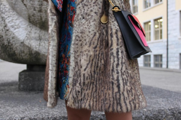 saint laurent coat and céline bag
