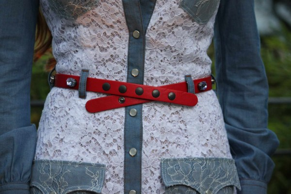 Alessandra Rich Cowboy Dress Belt