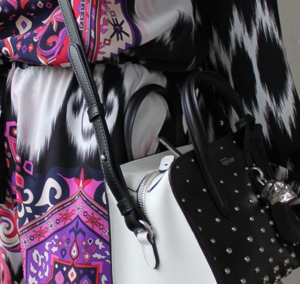 McQueen bag and Pucci Look