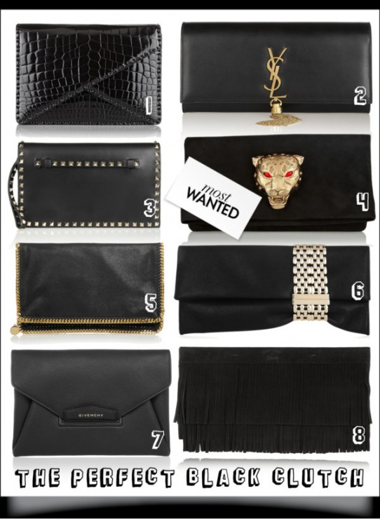 The Perfect Black Clutch