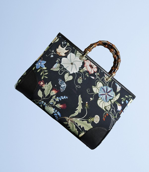 Gucci Flora Knight Bamboo Shopper
