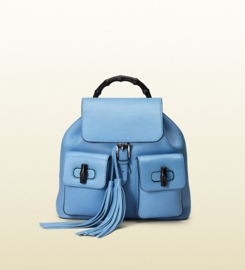 Gucci Womens Backpack - light blue