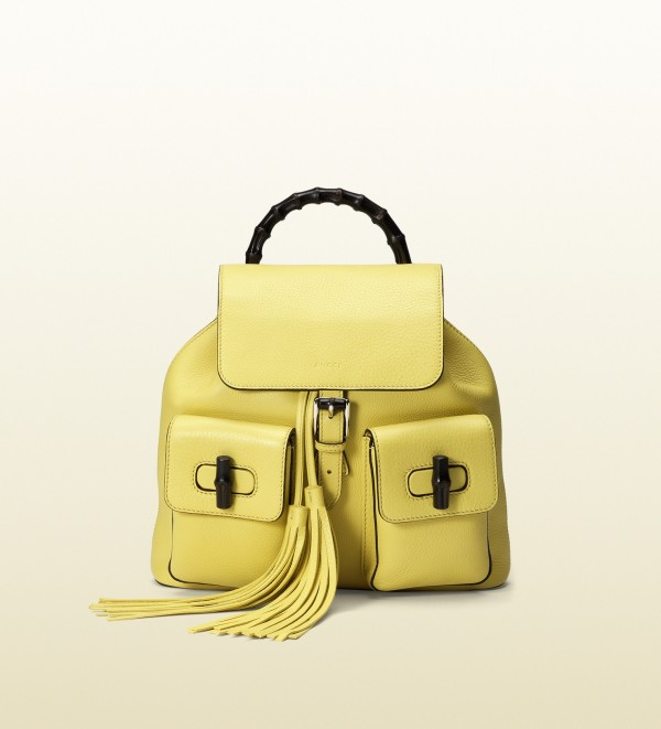 Gucci Womens Backpack - yellow