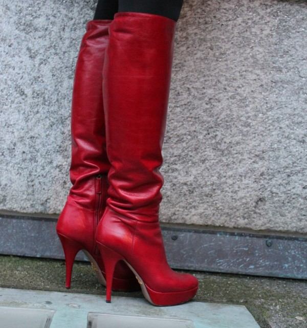 Red Boot by Prada