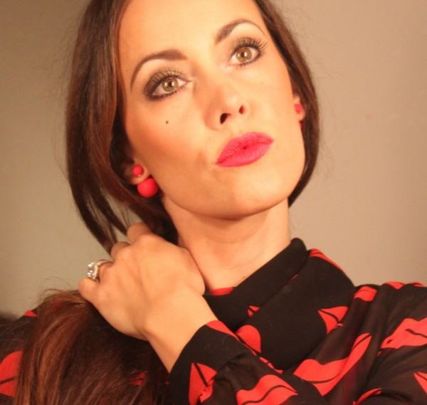 Sandra Bauknecht with red lips