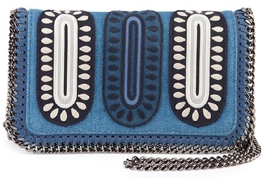 Embroidered denim crossbody bag _ Stella McCartney