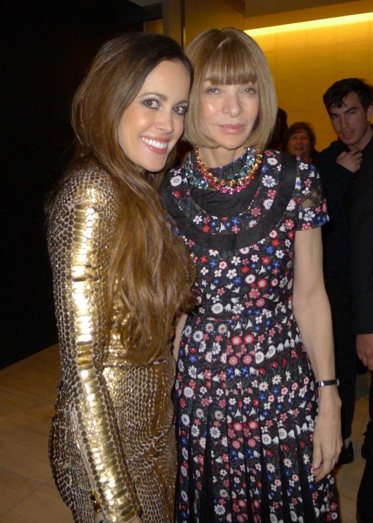 Sandra Bauknecht and Anna Wintour