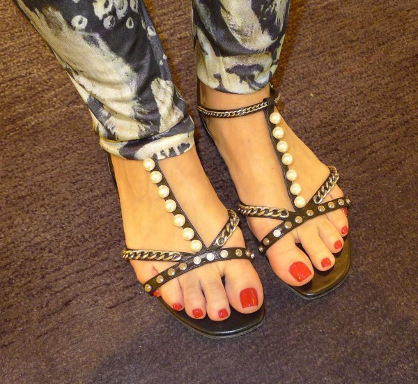 Saint Laurent Sandals with pearls
