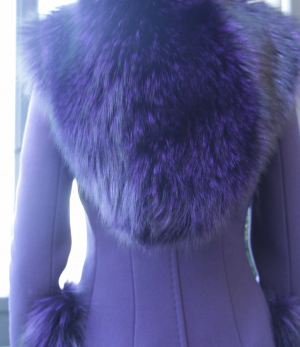 Dolce & Gabbana Coat Back Purple FW2014
