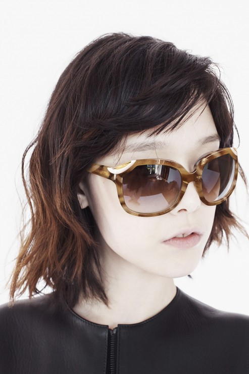 Honey tortoise sunglasses in acetate bis