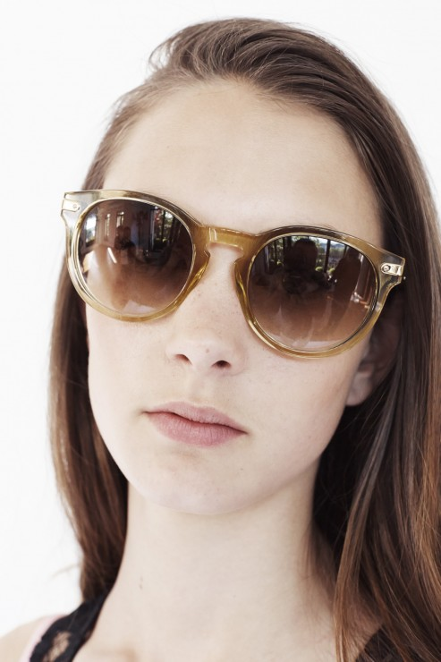 Taupe Sunglasses in metal & acetate