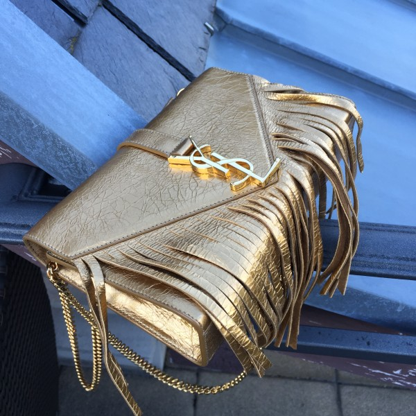 Saint Laurent Fringed Clutch
