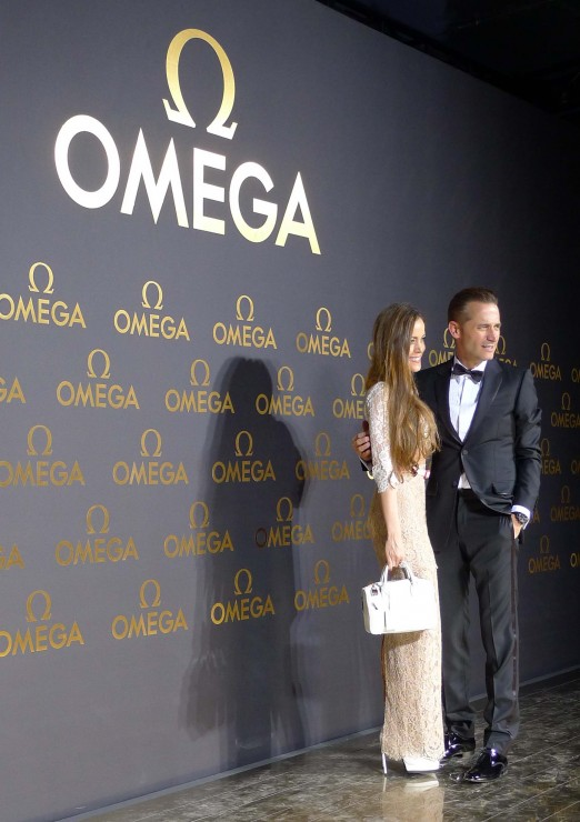Sandra Bauknecht with renard Aeschlimann at Omega Event in Shanghai