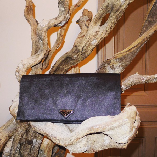 Prada_Clutch_Black_Satin