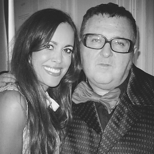 Sandra Bauknecht and Alber Elbaz in Paris