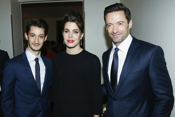 GENEVA, SWITZERLAND - JANUARY 18: (L-R) French actor Pierre Niney, Charlotte Casiraghi and Australian actor Hugh Jackman attend the Montblanc 4810 Collection Gala Dinner on January 18, 2016 in Geneva, Switzerland. (Photo by Julien Hekimian/Getty Images for Montblanc) *** Local Caption *** Pierre Niney; Charlotte Casiraghi; Hugh Jackman