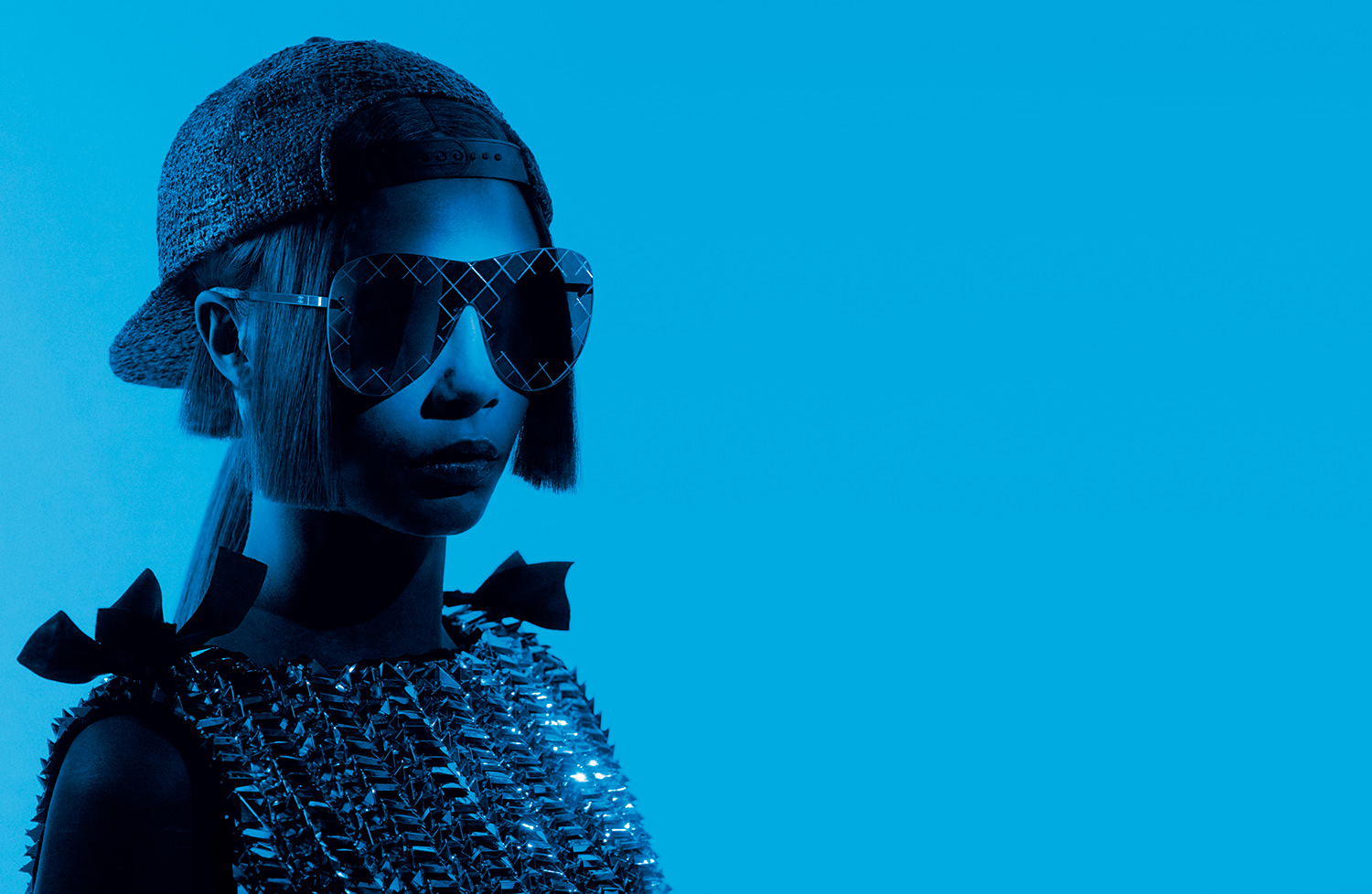 62b357378a14 ChanelSS2016 01 Spring-Summer 2016 eyewear collection ad campaign -  Pictures by Karl Lagerfeld LD