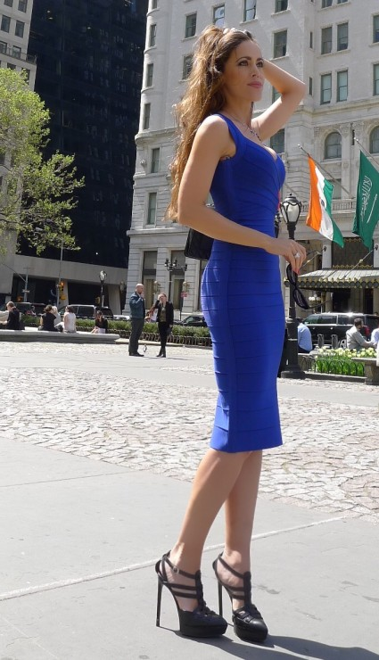 Sandra_Bauknecht_Herve_Leger_Blue_DRess_Zipper