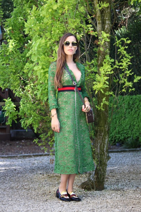 Sandra_Bauknecht_Gucci_Lace_dress_Green_1