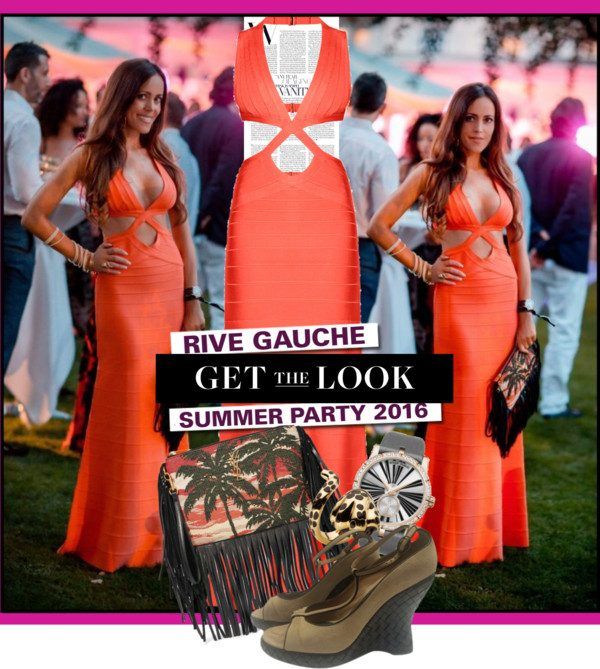 Sandra_Bauknecht_Rive_Gauche_Summer_Party_2016_Herve_Leger_Dress