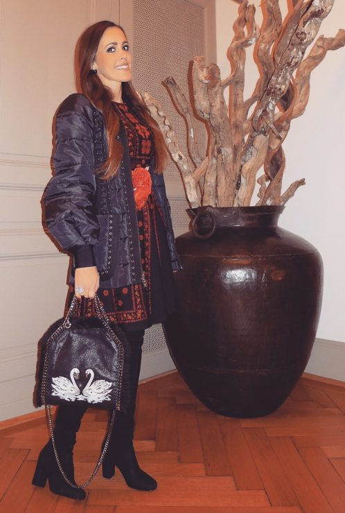 sandra_bauknecht_mcqueen_dress_jacquard_saint_laurent_boots_stella_mccartney_bag