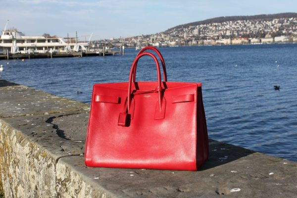 Saint_Laurent_Tote_red_Bag