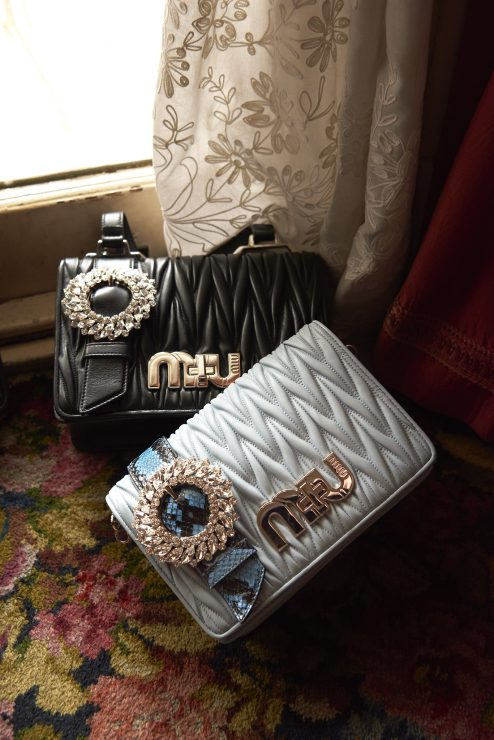 b244c71da1ac All bags feature a removable and adjustable python or ayers strap allowing  them to be carried cross body, on the shoulder or as a clutch. The My Miu  ...