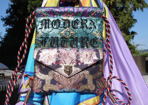 4ed0006f0df7 embroidered brocade drawstring backpack