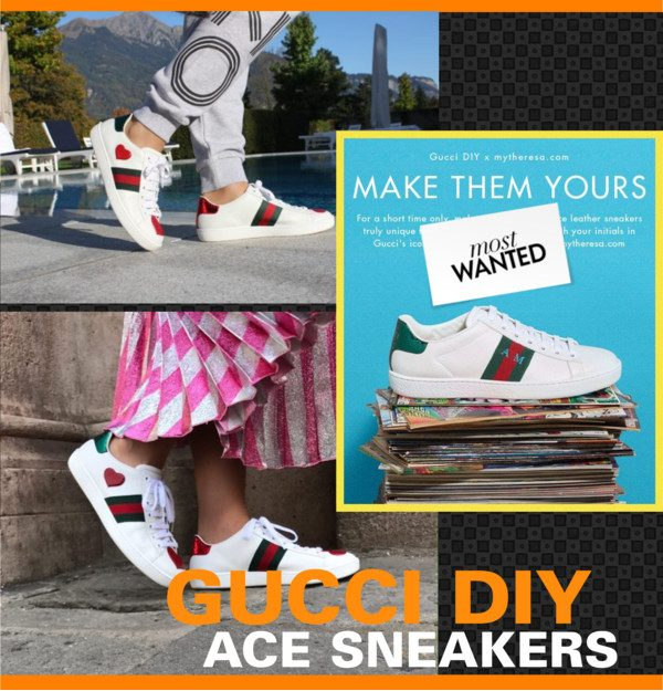 59bb58bbf8c Make an iconic style truly unique to you with the GUCCI DIY Ace sneakers.  Choosing from a range of colours