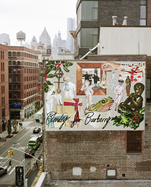 blondey mccoy unveils burberry murals sandra s closet On mural on broome street