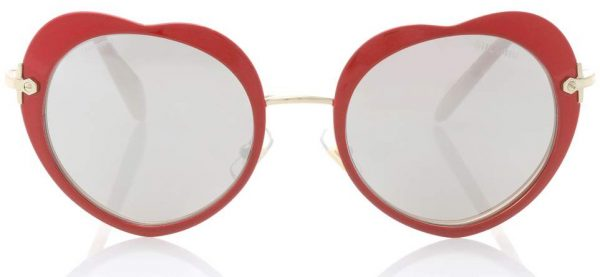 e410dd044d Poppy Love heart-shaped acetate and gold-tone sunglasses by Chloé. Heart  sunglasses by Miu Miu
