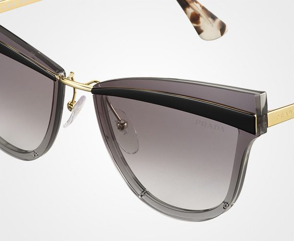 959ffe11bce5 The sunglasses and eyewear have oversized frame fronts emphasized by a  shining metal element